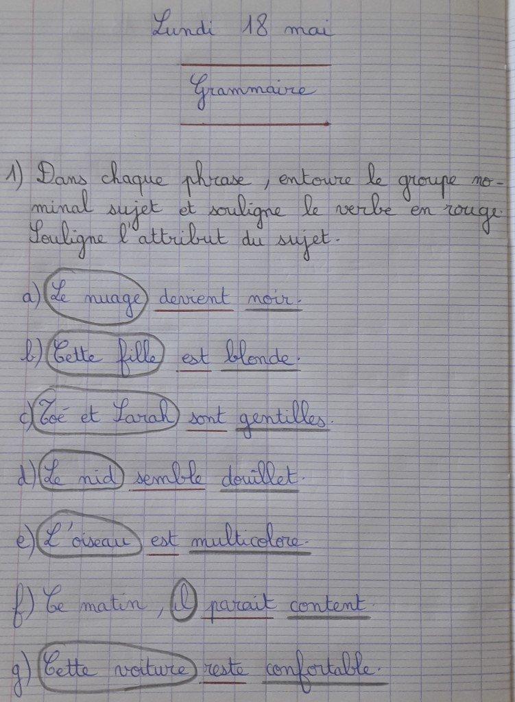 Correction 18 mai FR 1